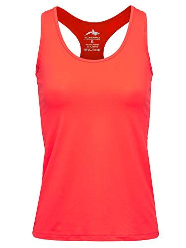 Killer Whale Ärmellose Sporthemden für Damen UK (S) Koralle