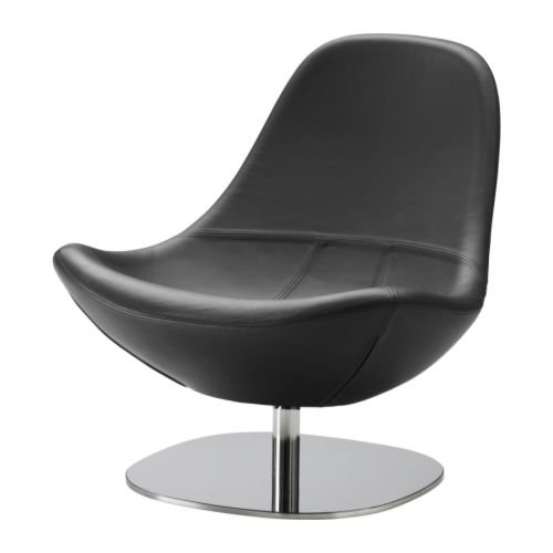 IKEA(イケア) TIRUP カヴァト ブラック 30158664 回転アームチェア、カヴァト ブラック