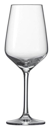 Schott Zwiesel 115670Weisswein Taste 0, calici per vino bianco in cristallo trasparente privo di piombo, dimensioni: 7,9 x 7,9 x 21,1 cm, confezione da 6 pezzi
