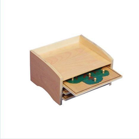 Adena Montessori Materials Botany Puzzle Cabinet (3 Puzzles Included)