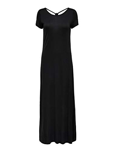 Only ONLCARRIE S/S Dress JRS Vestido, Negro, L para Mujer