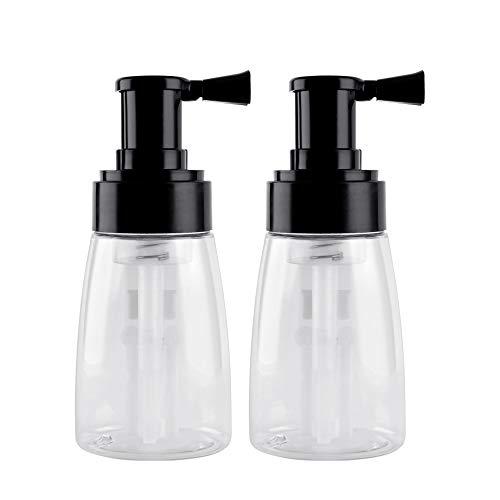 2 PiecesBarber Powder Spray Bottle, Empty Powder Travel Cosmetics Blower, Refillable Hair Fiber Applicator for Hair Salon, Home, Beauty (140ml+140ml)