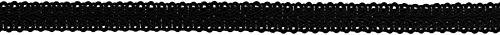 Decorative Trimmings 06739-8-012Y-002 Poly Chinese Braid Trim, 1/2' x 12 yd, Black