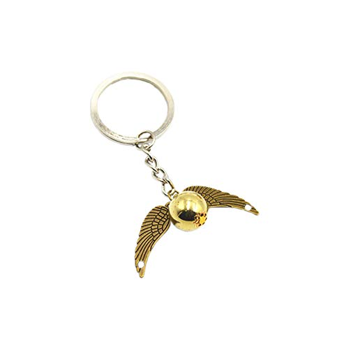 Jungle Lawer Porte-clés en étain avec symbole de l'allée d'ange en forme d'ailes d'ange en étain pour téléphone portable ou téléphone portable - Pour homme et femme - Cadeau d'anniversaire (Bronze)