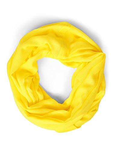 STREET ONE Damen Damira Mode-Schal, shiny yellow, One Size