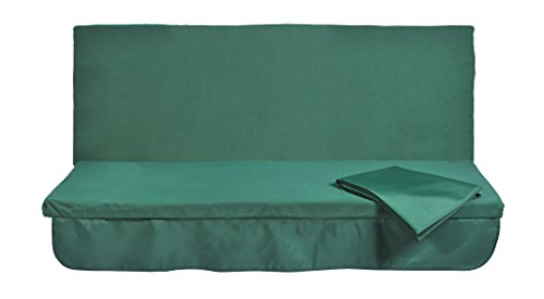 Stiliac 9411T302 Set Cuscini e Tettuccio di Ricambio per Dondolo 3 Posti, Verde, 150x55x6 cm
