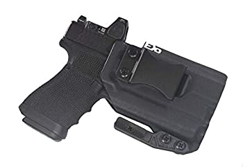 FDO Industries IWB Kydex Holster Compatible with Glock 19 23 32 w/Olight Baldr Mini Optic Cut -The Paladin Series- Made in USA-  Black