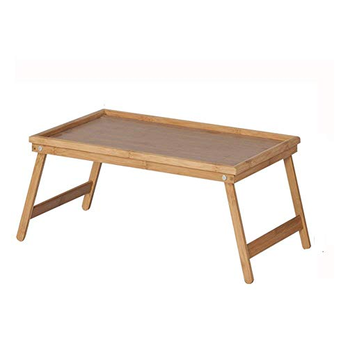 CENPEN Escritorio de ordenador puede ser levantado bandeja plegable cama uso carbón bambú 50 cm* 30.5 cm* 23 cm color madera