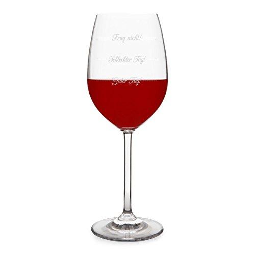 KIXY Rotweinglas von Leonardo - Guter Tag! Schlechter Tag! Frag nicht! - Weinglas