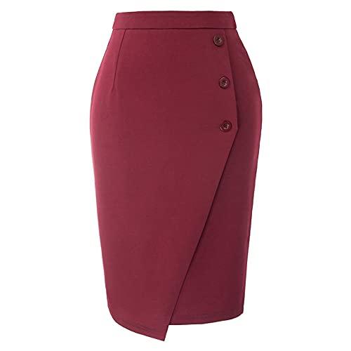 Falda Mujer Mini Faldas De Tubo para Mujer, Faldas De Estilo Imperio Sólido Informales A La Moda De Verano...