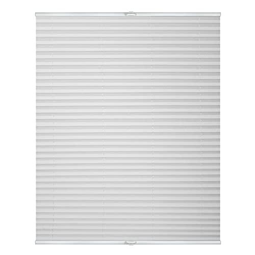 Lichtblick PKV.080.130.01 Plissee Klemmfix, ohne Bohren, verspannt Weiß, 80 cm x 130 cm (B x L)