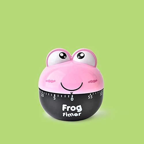 Kreative Nette Frösche Küche Mechanische Timer 60 Minuten Kochen Dial Timer Erinnerung for Shop Home Küche Gerät-Geschenk (Color : Pink Frog)