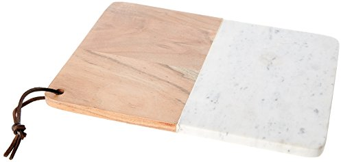 Cosy & Trendy 8931735 Planche Fromage Marbre Blanc/Brun 30 x 23 cm