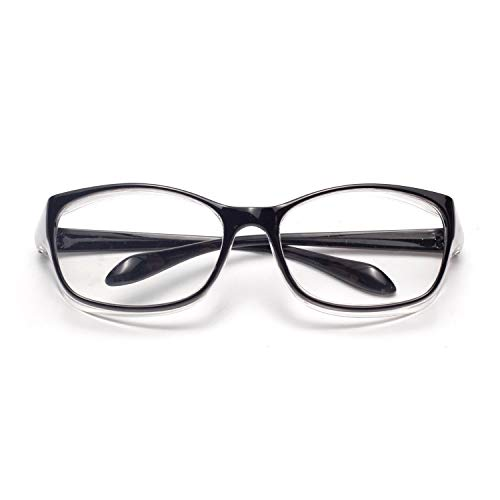 LianSan Anti-Fog Anti-Saliva Safety Glasses UV Protection HD Blue Light Blocking Goggles for Men Women Black