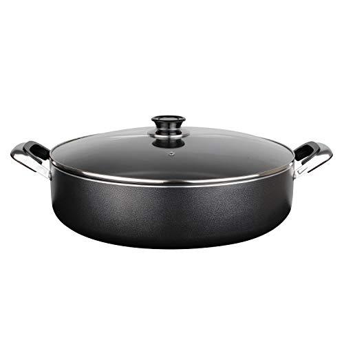 Aramco Alpine Cuisine Aluminum Non-Stick Coating Cooking Pot, 12 quart, Gray,AI17900
