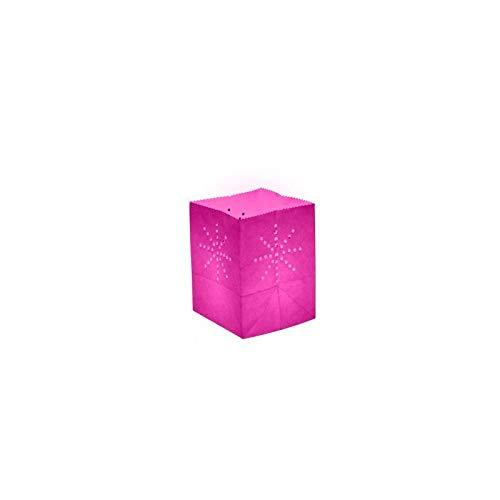 Lanterne papier medium Rose (X10)
