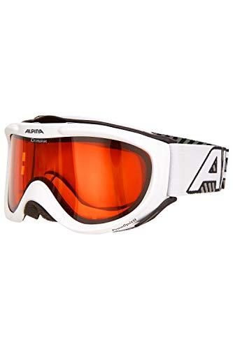 ALPINA Erwachsenen Skibrille FREESPIRIT DH OneSize (White-Grey)