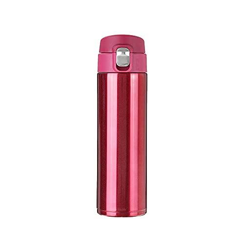 NAYAO 500ml Edelstahl Vakuumbecher Thermobecher, Werbegeschenk Flasche Thermoskanne Thermobecher Vakuumflasche(red)