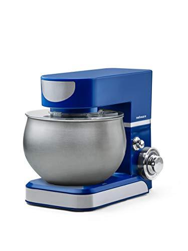 Mellerware - Batidora Amasadora repostería 1000 W. Amasadora de Pan con Bol de Acero Inoxidable, Movimiento Orbital,Capacidad 5 L, 6 Funciones + Turbo. Apto Lavavajillas (Azul)