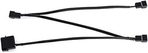 Poppstar Lüfter Verteilerkabel 12V (20-20-20cm Molex Stecker (m) auf 3X 2-Pin Stecker (m), zum Anschluss von Prozessor- und Gehäuselüftern an EIN Netzteil