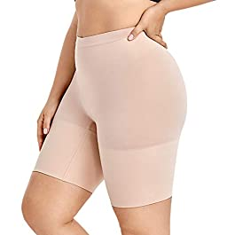 Delimira Women's Plus Size Tummy Control Panties Thigh Slimmer Shapewear Shorts