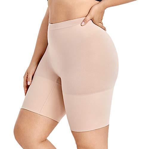 DELIMIRA Pantalones Moldeadores Braguitas Reductoras Adelgazantes Tallas Grandes para Mujer Beige 52-54