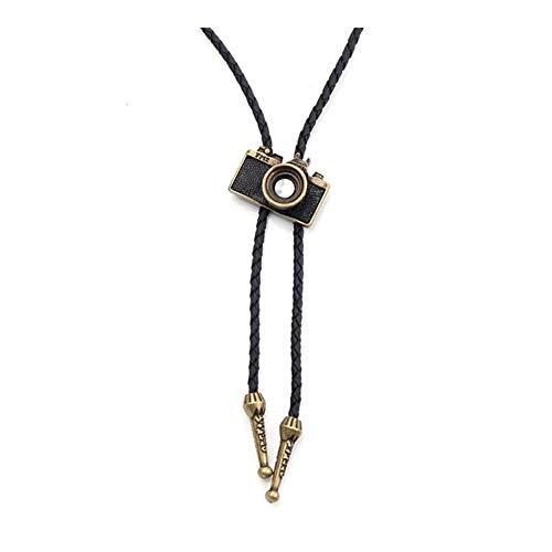 Accesorios Colgante, Collar de Danza del Rodeo del Lazo Occidental de Moda Cinturón de Eagle Corbata Regalo (Metal Color : Camera 1)