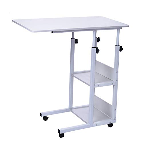 Ellymi Overbed Table - Hospital Bed Table - Swivel Wheel Rolling Tray - Adjustable Over Bedside Home...