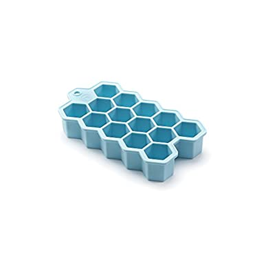 Outset Silicone Hexagon Ice Cube Tray, Large Cubes