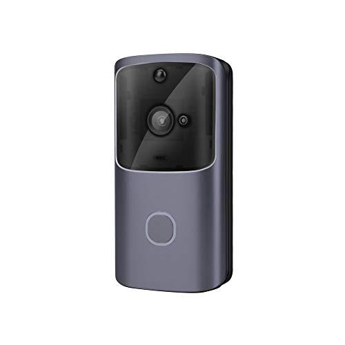 YUTRD ZCJUX Timbre de la cámara de Timbre inalámbrico Wi-Fi Inteligente de vídeo Timbre de la Puerta Smart Security con alertas en Tiempo Real Push Noche