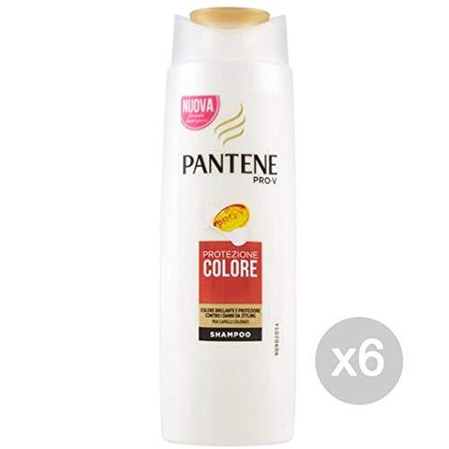 Pantene Set 6 Shampoo Trad Protezione Colore 250 Ml Cura E Trattamento dei Capelli, Multicolore, Unica