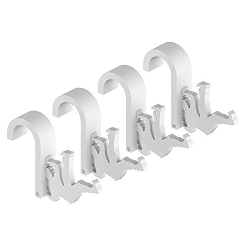 4 Handy Hook - Appendino Universale per Radiatore Scaldasalviette - Spessore Maggiorato per la Massima Robustezza - Bianco 4 pezzi