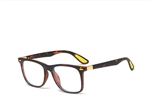 PJPPJH Gafas Fram Eyeweare Art Fashion Comfortable Anti-Blue Light Square Gafas Monturas Hombres Mujeres Moda Gafas de Ordenador Regalo