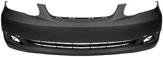 CarPartsDepot 352-44312-10-PM FRONT BUMPER PRIMED BLACK PLASTIC FACIAL COVER SPOILER HOLES TO1000298