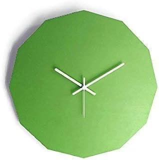 42cm Grande orologio muro silenzioso geometrico dodecagonale in molti colori come verde mela Funzionamento a batteria Desi...