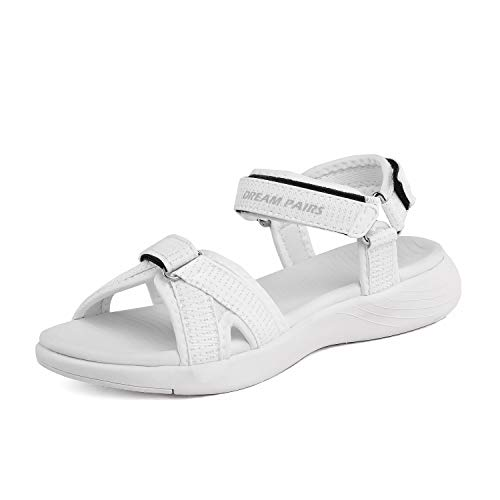 DREAM PAIRS Women's Athletic Sport Sandals Hiking Sandal White Size 5.5 M US QDL19001L