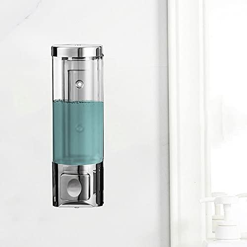 TBSHX Dispensador de jabon, jabonera baño dosificador dispensador jabon Cocina bajo encimera Dispensador de jabón líquido Pared, Prueba de Agua,Cocina y baño del hogar(Cromo) (Color : Punch)