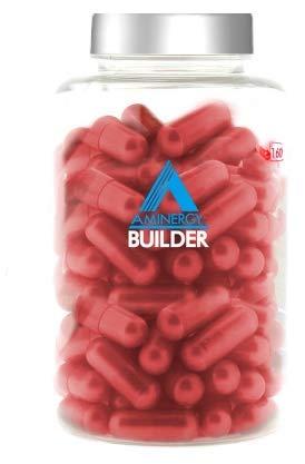 MTX nutrition AMINERGY Builder 160 capsulas – Revolucionaria fórmula natural de péptidos (aminoácidos en cadena) de origen sérico y libre de hierro orgánico de alta biodisponibilidad