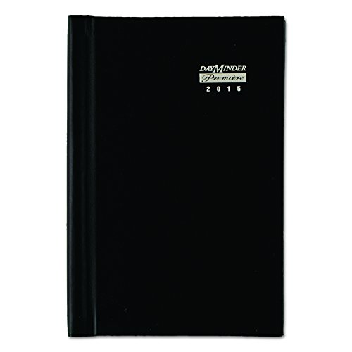 DayMinder G210H00 Hardcover Weekly Appointment Book, 4 7/8 x 8, Black, 2016 Photo #2