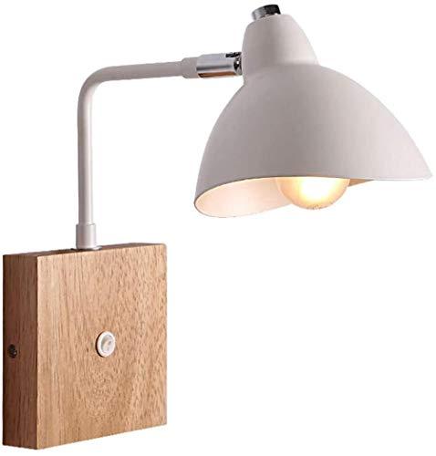 Salon Verstelbare Wandlamp Industrial Vintage Hout Metaal Applique Room Bedside lichtschakelaar verlichting Modern House Decoration