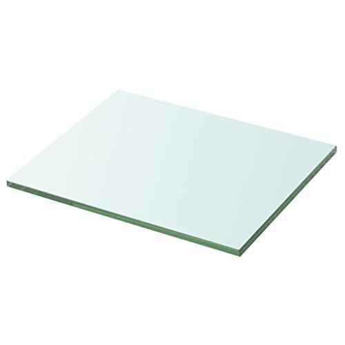 ROMELAREU plank glas transparant 20 cm x 25 cm meubels planksystemen wandplanken & size
