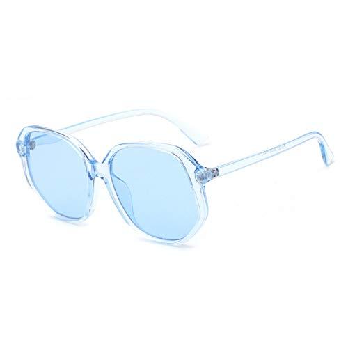 ZHHk Gafas de Sol Europa Y Los Estados Unidos Moda Gafas De Sol Irregulares De Borde Grande for Gafas De Sol De Color Caramelo UV400 Unisex (Color : Blue)