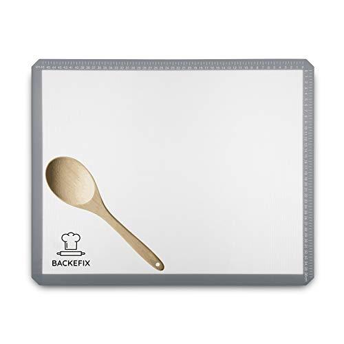 Ausrollmatte & Knetunterlage auch als Backpapier wiederverwendbar - Dauerbackfolie flexibel als Arbeitsunterlage für die Küche (50x40 cm)