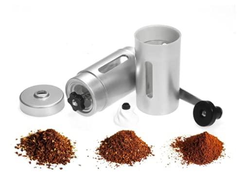 Moedor De Café Manual Triturador de Grãos C/Ajuste (Prata)