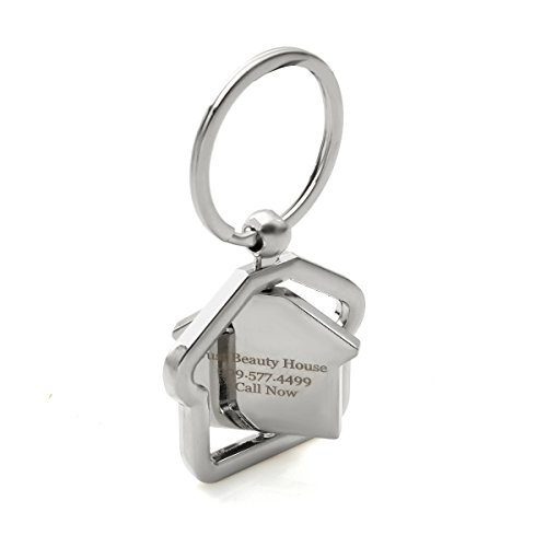 10-Pack Personalized House Design Key Chains 360 Degree Rotational Keychains by OnePlace Gifts