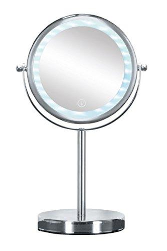 Kleine Wolke Bright Mirror Desktop Spiegel Erhöhung austauschbarem LED, Metall, Chrom, 17.5x 12x 29,5cm