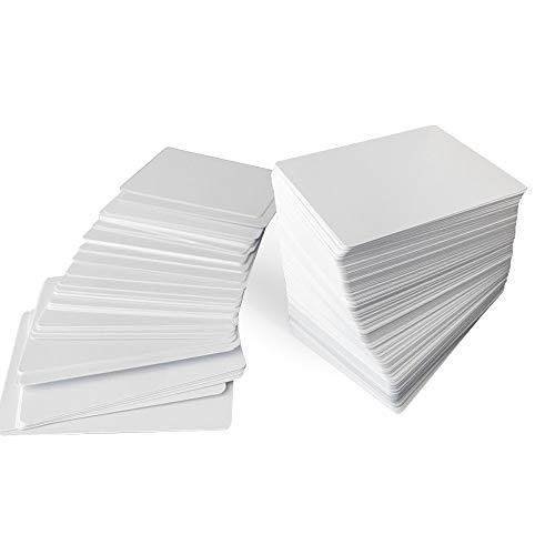 Blank Playing Cards to Write On 180-Piece Deck - White Blank Flash Cards for DIY Projects - Printable Flashcards for Tarot, Memory Game, ABC Learning - Matte Finish Poker Size Card Set for Board Games