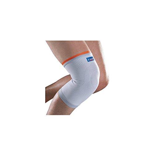Kniebandage von Thuasne Sport - Weiß/Orange - Größe XXL