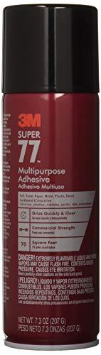 3M Super 77-10 Multi-Purpose Adhesive, 7.33 fl oz, Aerosol