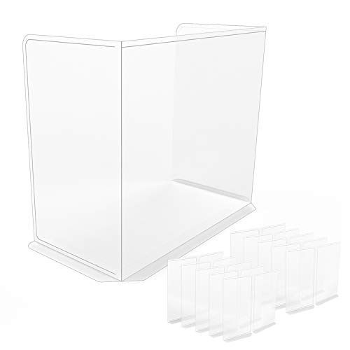 [10PACK] Polypropylene(PP) Portable Protective Panel, Best Partition Protector for Classroom, Sneeze Guard Desk Shield, Table or Countertop, Transparent Ratio is 75% (10 Pack)